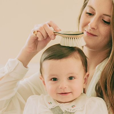5 good reasons to use our goat hair bristles Cherub Brush for your baby.